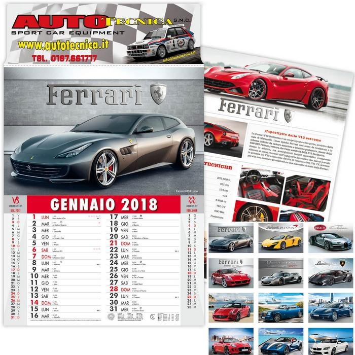 Calendario Auto.Calendario Da Parete 2018 Auto Sportive