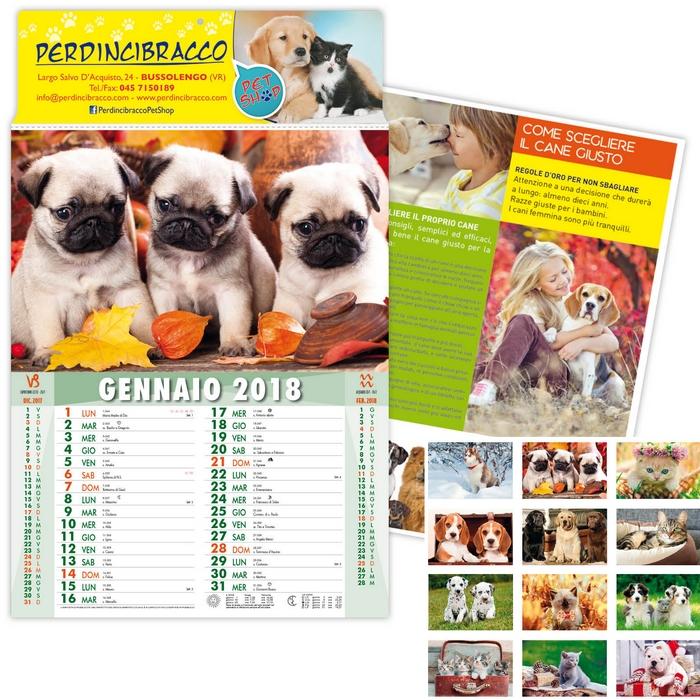 Calendario Da Parete 2018 Cuccioli Cani E Gatti
