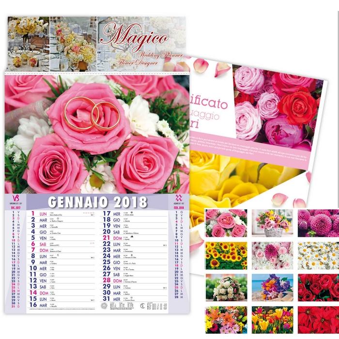 Calendario Significato.Calendario Da Parete 2018 Giardinaggio E Fiori