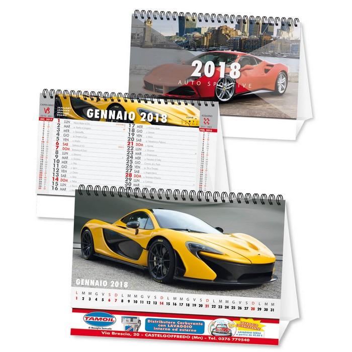 Calendario Auto.Calendario Da Tavolo 2018 Auto Sportive Personalizzato Su Due Lati