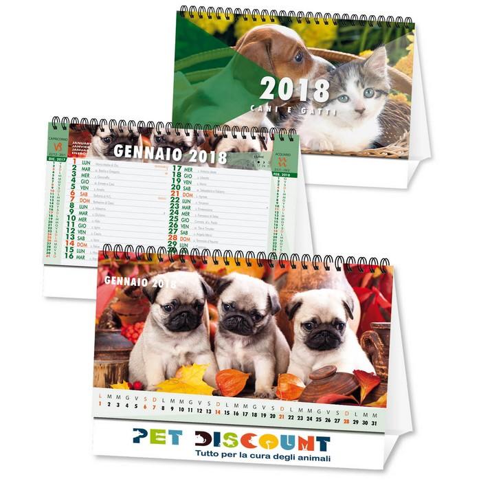 Calendario Da Tavolo 2018 Con Foto Cani E Gatti Personalizzato Su