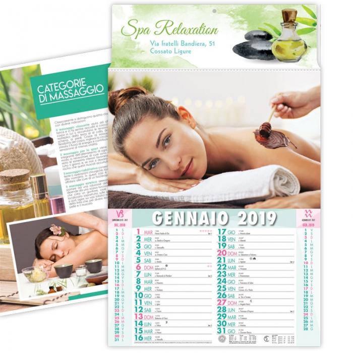 Calendario Bellezza.Calendario 2019 Illustrato Con Tema Benessere E Bellezza