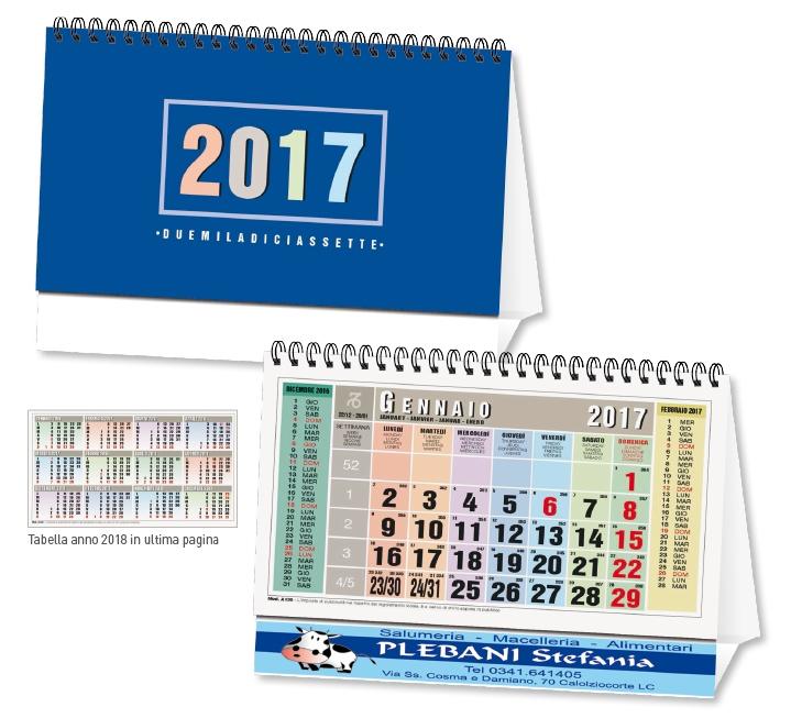 Gadget Calendario.Calendario Da Tavolo 2017 Personalizzato Su Due Lati Gadget 730